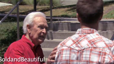 Watch Bob Barker punch an animal-rights critic in the face (on TV)