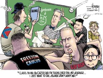 Editorial cartoon U.S. Kevin McCarthy