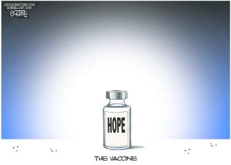 Editorial Cartoon U.S. Vaccine COVID