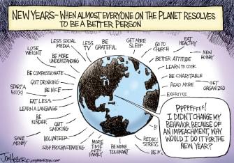 Political Cartoon U.S. 2020 resolutions Trump