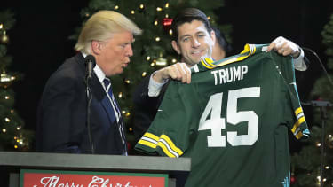 Donald Trump praises Paul Ryan at Wisconsin victory rally