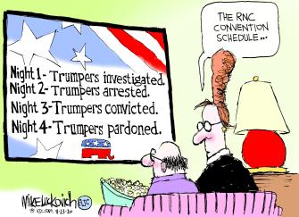 Political Cartoon U.S. Trump RNC