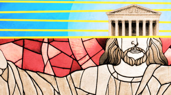 Stained glass and the Supreme Court.