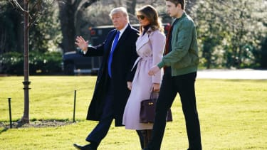 President Trump First Lady Melania Trump and their son Barron