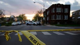 A crime scene in Chicago.