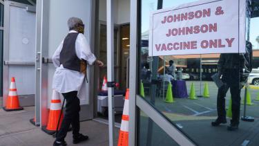Johnson & Johnson vaccination site.