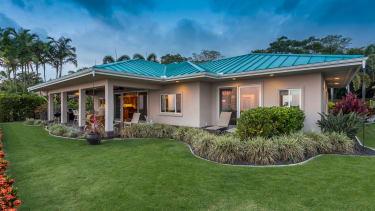 Solar-powered homes.