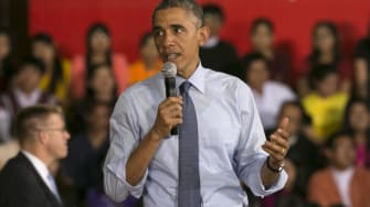 Obama uses weekly address to tout now-open enrollment on HealthCare.gov