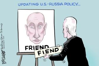 Political Cartoon U.S. biden putin russia