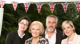 The hosts of The Great British Baking Show.