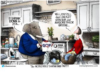 Political Cartoon U.S. shrink gop