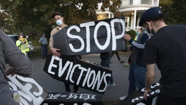 Eviction protest.