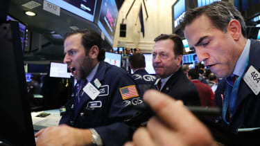A busy day on the floor of the New York Stock Exchange after the election.