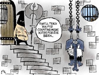 Political Cartoon U.S. Georgia GOP election