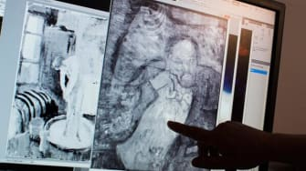 Hidden painting of mystery man found underneath Picasso's 'The Blue Room'