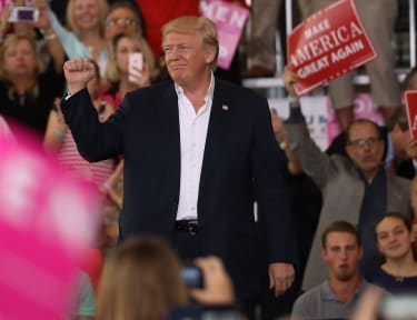 President Trump at a rally in Florida