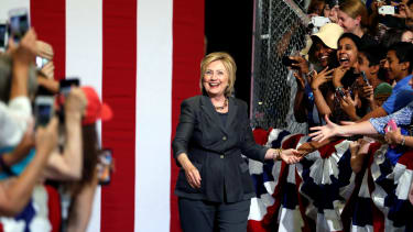 Hillary Clinton campaigns in North Carolina.