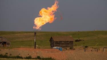 A gas flare in North Dakota.