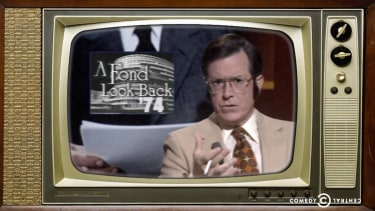 A retro Stephen Colbert fondly remembers Nixon on the 40th anniversary of his resignation
