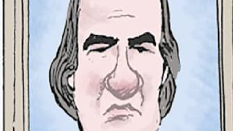 Political Cartoon U.S. Trump second impeachment Pelosi