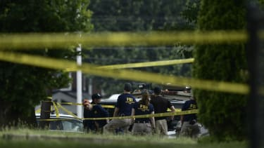 FBI officials investigate after a shooting during a congressional baseball practice