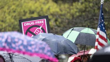 Anti-vaxxers protest