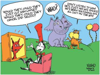Editorial Cartoon U.S. dr seuss books fox in socks