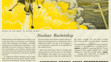 A rocket ship.