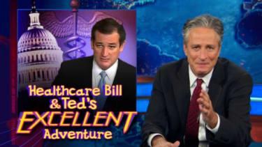 Jon Stewart isn't impressed with Ted Cruz