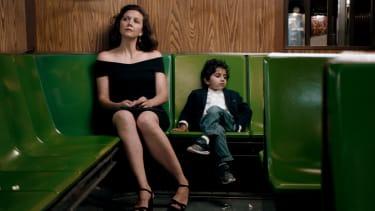 Maggie Gyllenhaal and Parker Sevak.