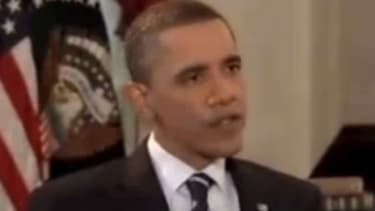 """After a combative seven-minute interview with a Dallas newsman, President Obama tells his interviewer to """"let me finish my answers the next time we do an interview, alright?"""""""