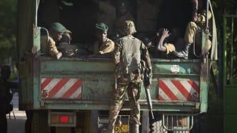 Kenyan military troops