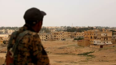 Syrian rebel in Tabqa.