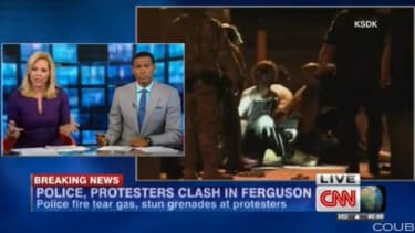 CNN anchor: Why not use water cannons on Ferguson protesters?