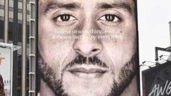 Colin Kaepernick's Nike ad in New York City.