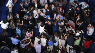A media frenzy at the Democratic National Convention.