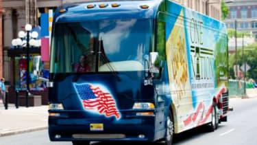 Sarah Palin's tour bus