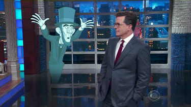 Stephen Colbert and the ghost of Abraham Lincoln discuss Trump