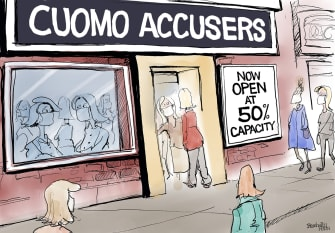 Political Cartoon U.S. cuomo accusers