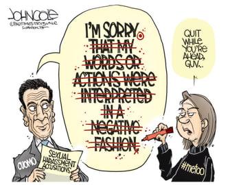 Political Cartoon U.S. andrew cuomo sexual harassment