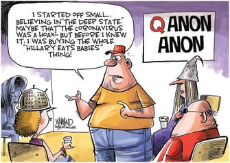 Editorial Cartoon U.S. qanonanonymous