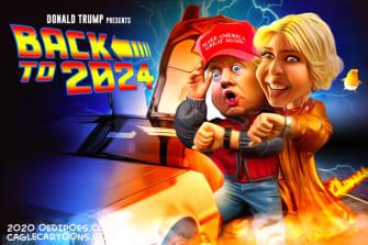 Political Cartoon U.S. Trump Ivanka 2024 Back to the Future