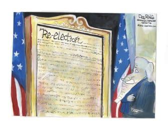 Political Cartoon U.S. gop impeachment trump reelection
