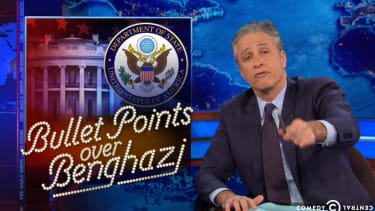 Jon Stewart snaps at Fox News over its selective outrage on Benghazi