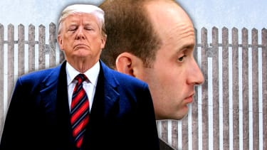 President Trump and Stephen Miller.