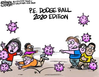 Editorial Cartoon U.S. School reopenings COVID
