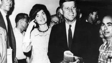 Jackie Kennedy and JFK.
