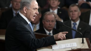 Bibi addresses Congress.