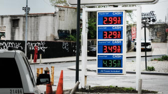 A gas station in NYC