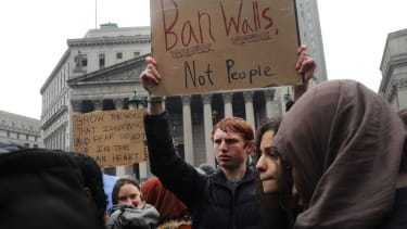 Immigration protesters in NYC